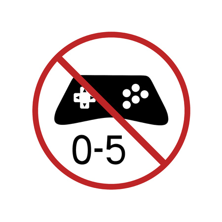 no videogames for child under five years