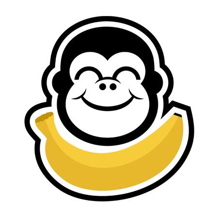 gorilla and monkey draw Illustration