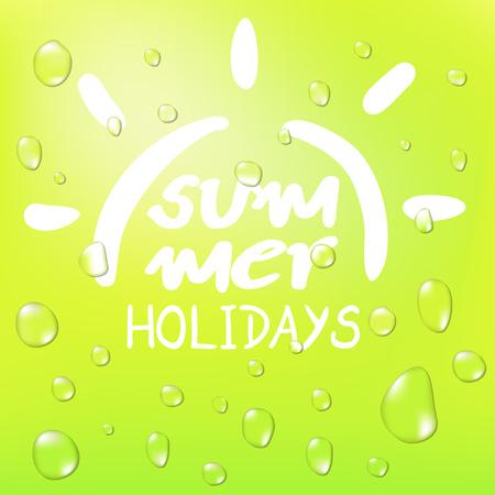 refreshing summer symbol Illustration