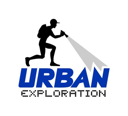 illustrazione di esplorazione urbana