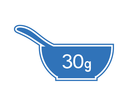 Icône de bol de 30 grammes Vecteurs