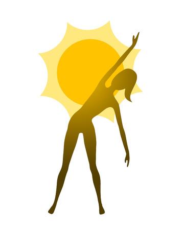 yoga woman icon Illustration