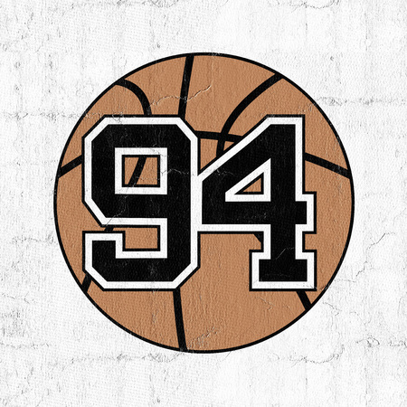 ball of basketball with the number 94 Stock Photo