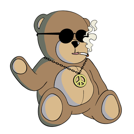 ours fumer dessiner Vecteurs
