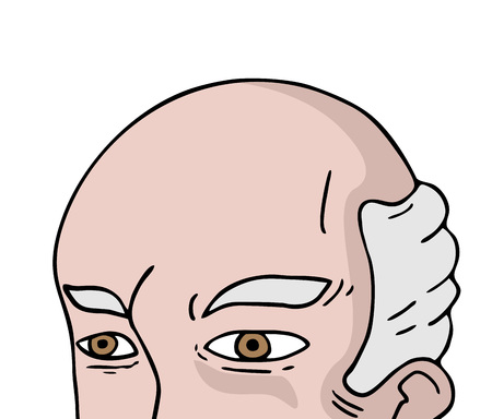 bald old man face