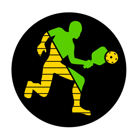 Pickeball player symbol