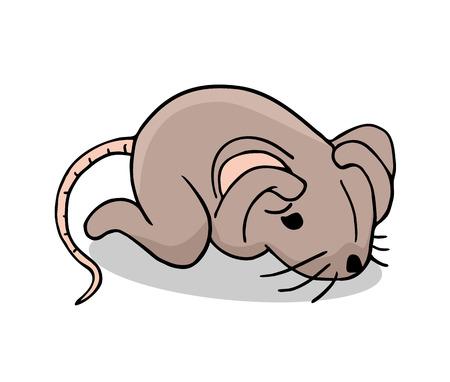 angst ratte illustration