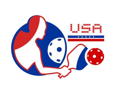 USA pickleball symbol