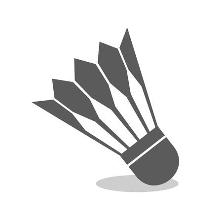 Design of badminton ball symbol Illustration