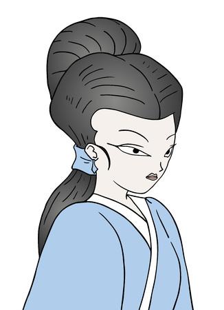 Japanese woman illustration Banque d'images - 110170978