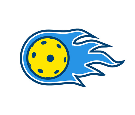 Pickleball and floorball ball symbol design