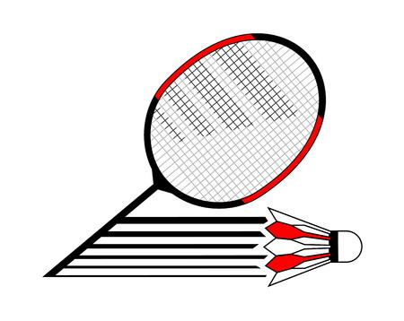 Badminton sport symbol