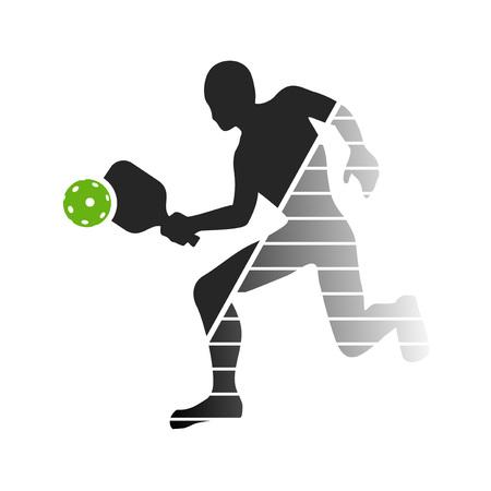Pickeball player symbol Illustration