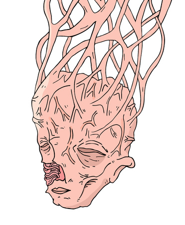 deformity mutant head Archivio Fotografico - 110172035