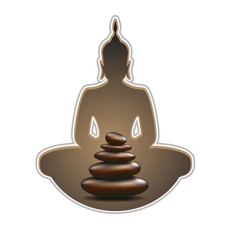 creative budha symbol  イラスト・ベクター素材