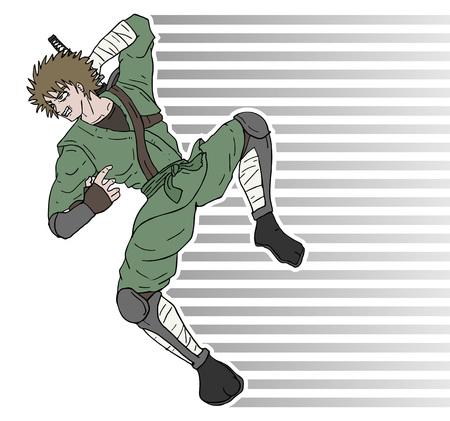 warrior jumping attack