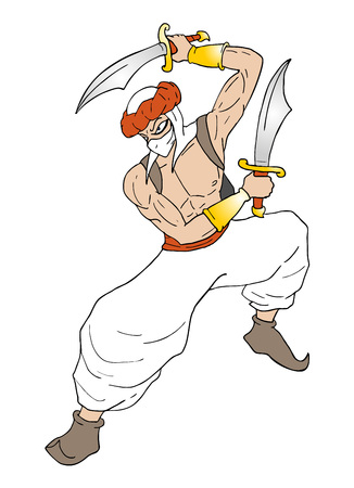 arabian warrior draw