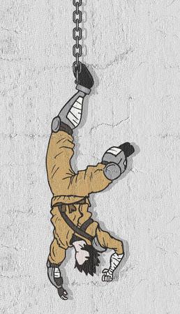Hunging ninja Banco de Imagens