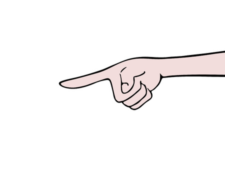hand pointing draw