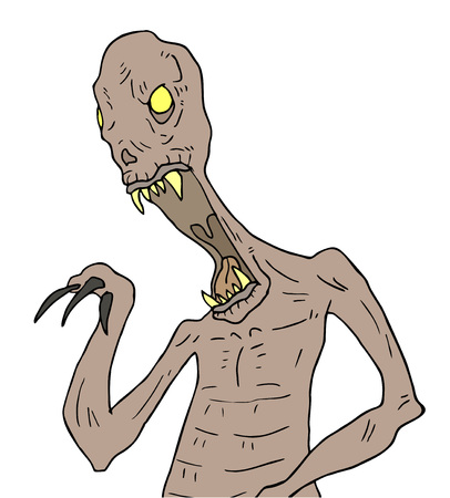 Halloween monster draw