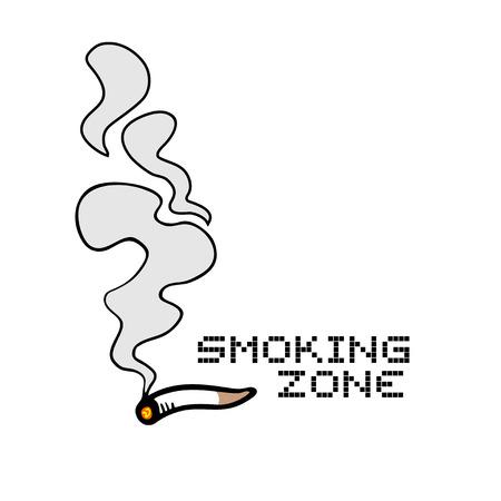 smoking zone sign Stock Illustratie