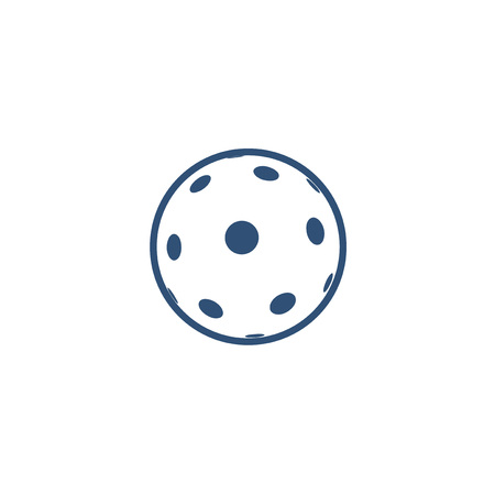 pickleball or floorball symbol design