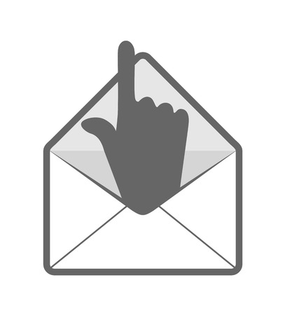 mail with hand icon