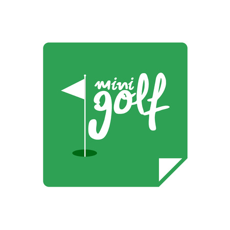 mini golf icon Иллюстрация