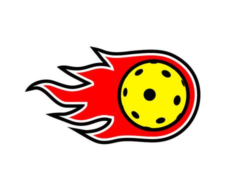 Pickleball and floorball ball symbol design Vektorové ilustrace