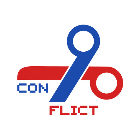 conflict symbol design Archivio Fotografico - 110648267