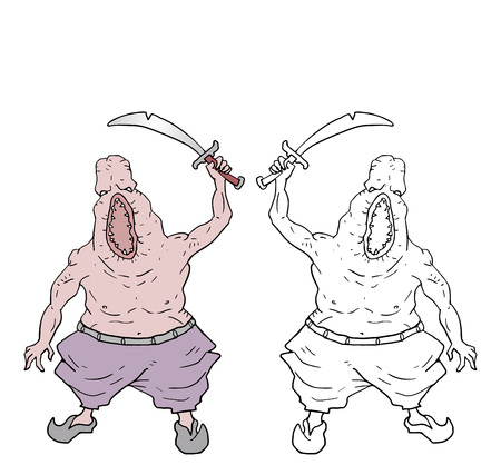 Imaginative creature draw