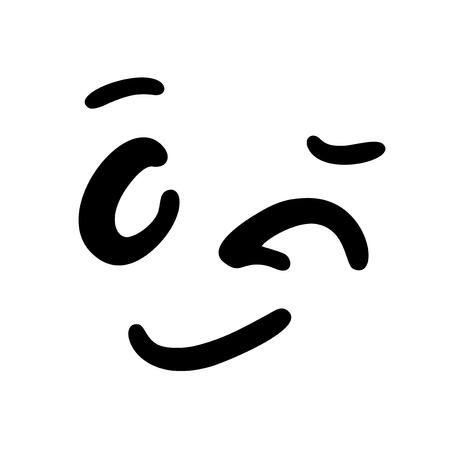 smiling face illustration Vector Illustratie