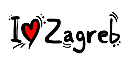Zagreb city of Croatia love message