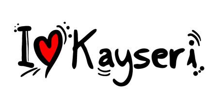 Kayseri city of Turkey love message
