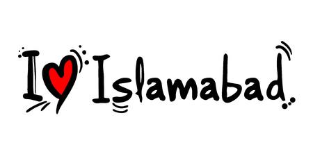 Islamabad city of Pakistan love message Ilustração