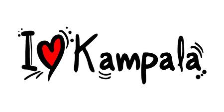 Kampala city of Uganda love message