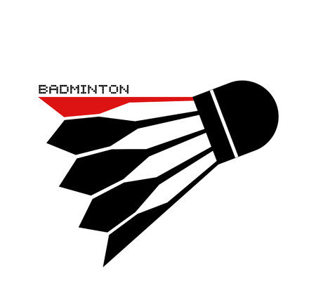 Design of badminton ball symbol 向量圖像