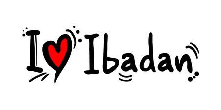 Ibadan city of Nigeria love message Archivio Fotografico - 110717246