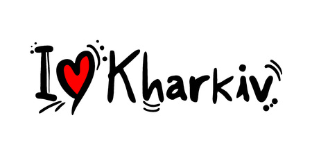Kharkiv city of Ukraine love message