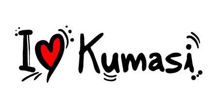 Kumasi city of Ghana love message