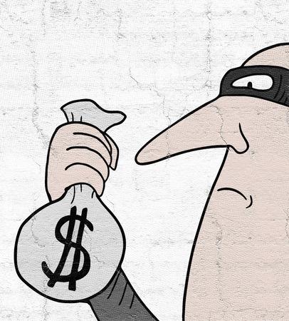 Thief man 版權商用圖片