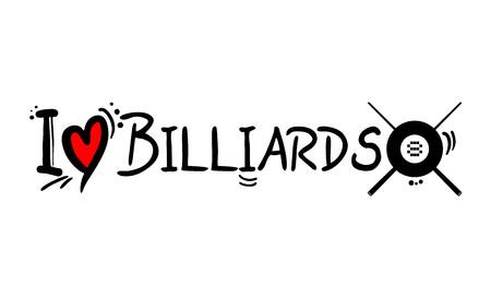 Billiards love message