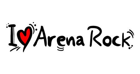 Arena Rock message 矢量图像