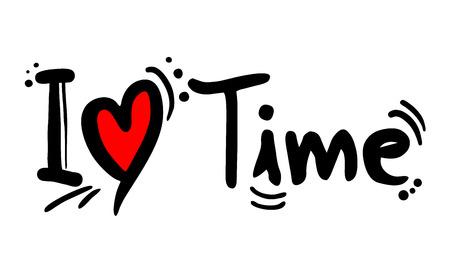 Time love message Stock Illustratie