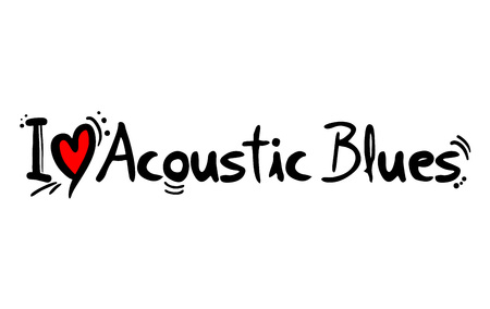 acoustic blues music style love message
