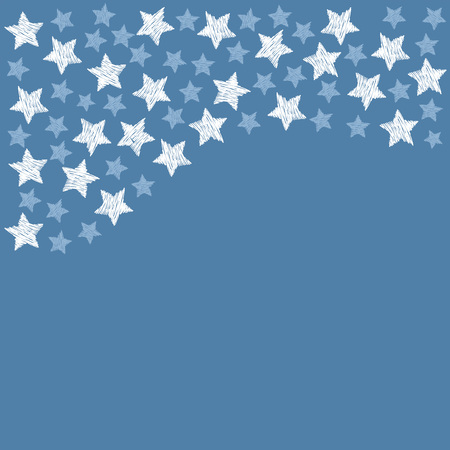 blue stars on blue background