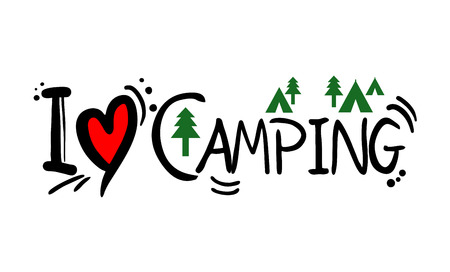 Camping love message