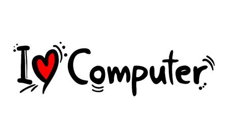 computer love message Illustration