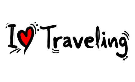 traveling love message Vettoriali