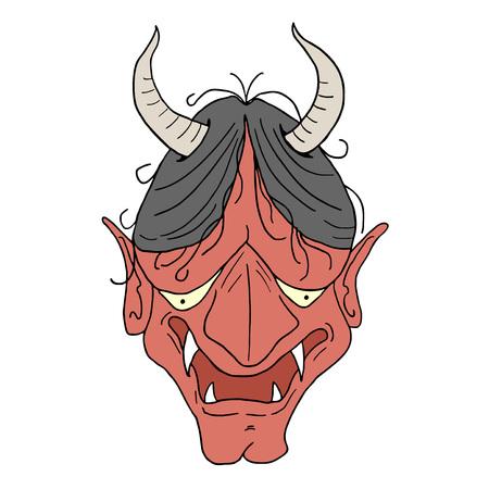 ugly demon face Иллюстрация
